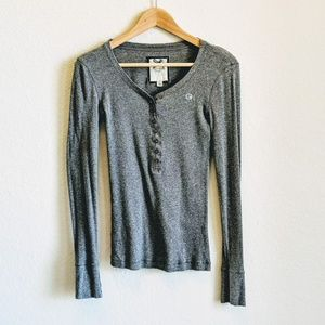 Gilly Hicks Longsleeve Charcoal Gray Thermal Small